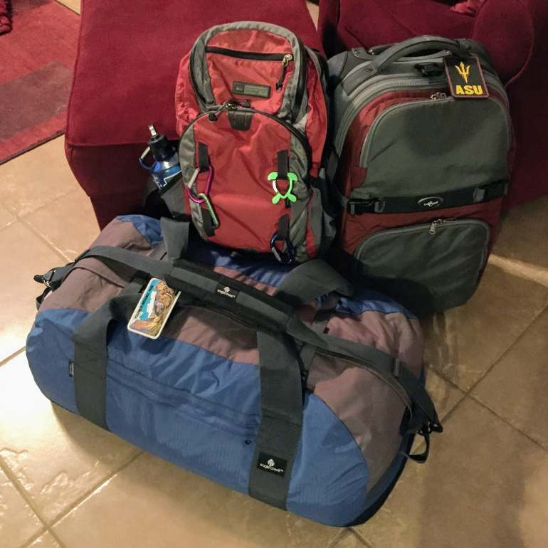 gear bag and luggage
