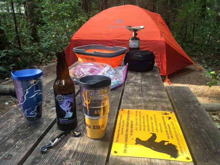 north cascades campsite