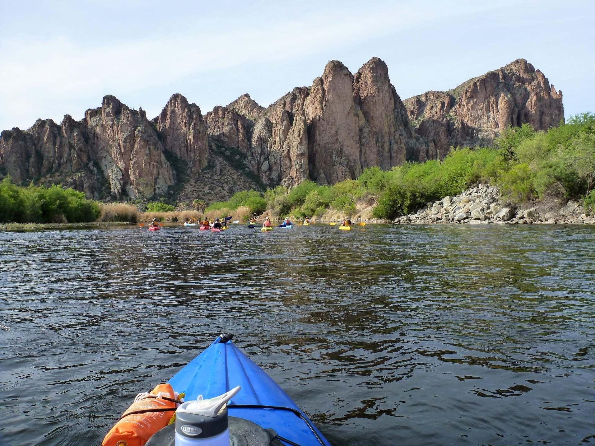 salt river kayaking cliffs