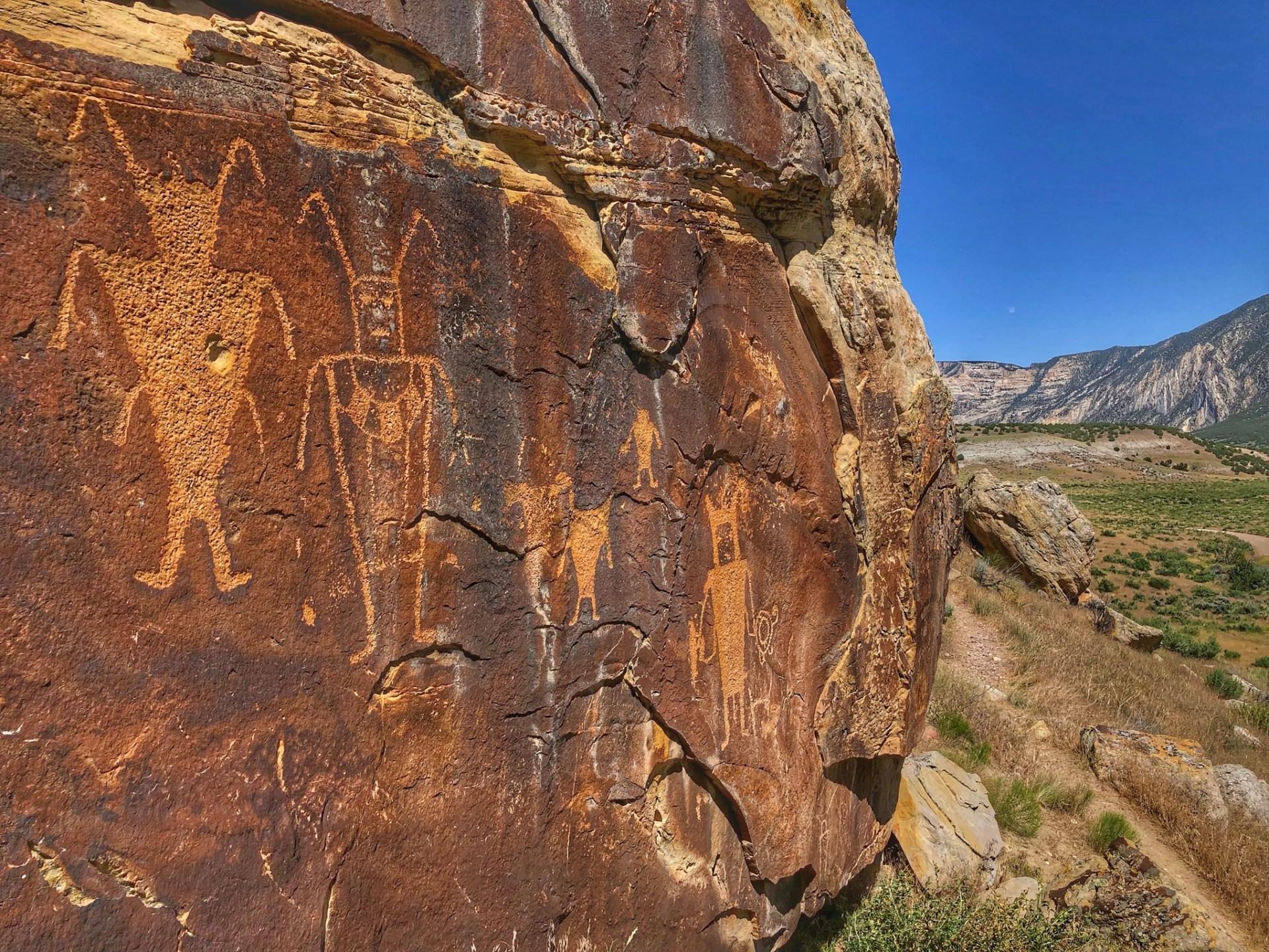 Petroglyphs overlooking McKee Spring