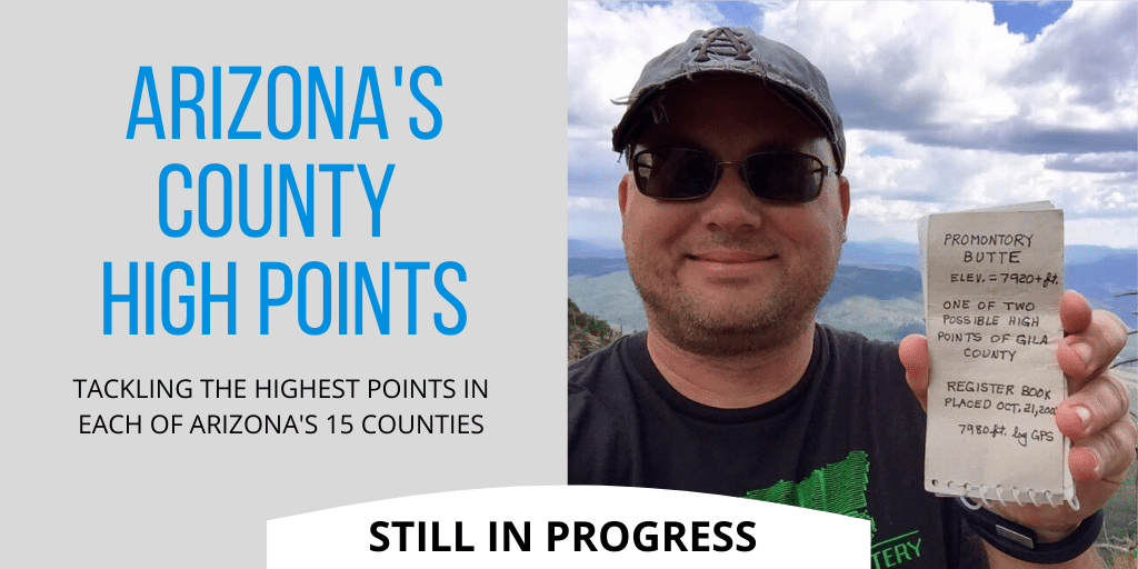 Arizona's county high points
