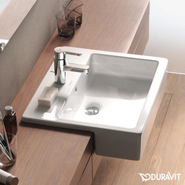 duravit vero semi recessed basin