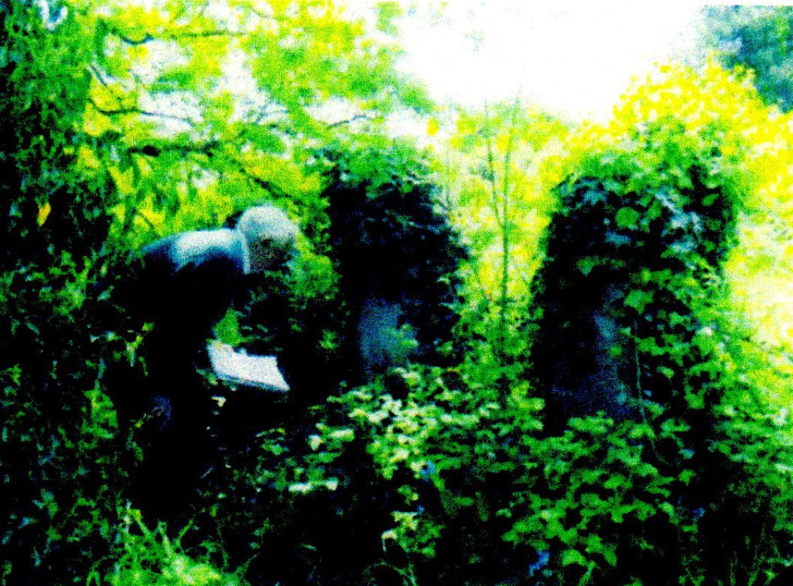 Dave Marshall transcribing graves
