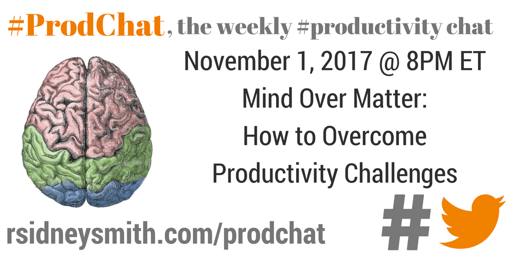 ProdChat - Mind Over Matter - November 1 2017