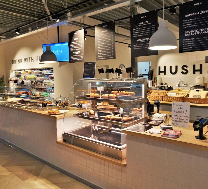 Hush Tankstation Winkel Interieur in Enter