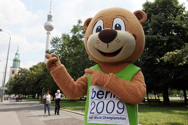 ATHLETICS-GERMANY-IAAF-BILLBOARD