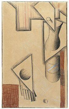 Nature morte 1913. Drawing on Paper. Juan Gris
