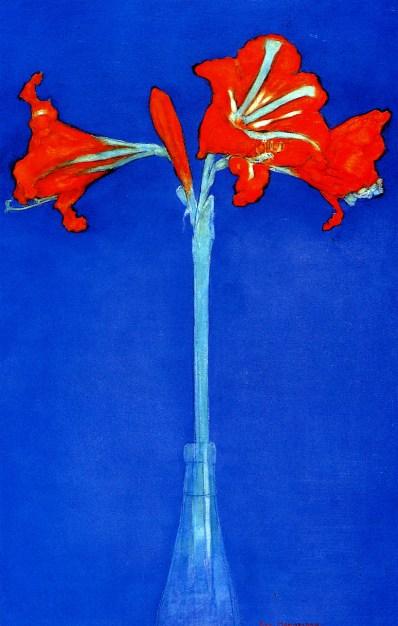 Amaryllis 1910. Watercolour. Piet Mondrian