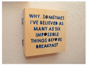 Frankfully- six impossible things before breakfast
