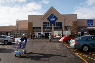 Walmart supports the American Red Cross at all Walmart and Sam's Club stores across the U.S. through its register campaign that matched dollar-for-dollar customer donations up to $5 million. (Scott Olson / Getty Images)