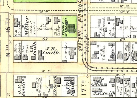 An 1887 atlas of downtown Birmingham (contributed)