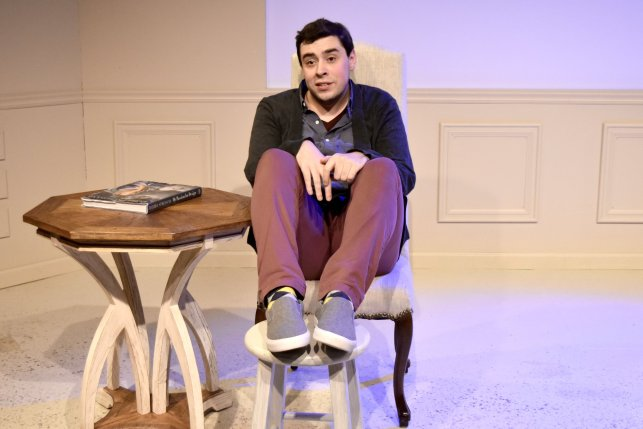 """Caleb Clark in """"Buyer and Cellar"""" at Terrific New Theatre. (contributed)"""