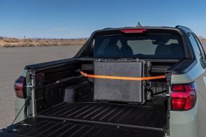 A molded composite bed is standard on the Santa Cruz. (Hyundai)
