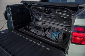 Lockable storage in the bed of the Santa Cruz is a standard feature. (Hyundai)
