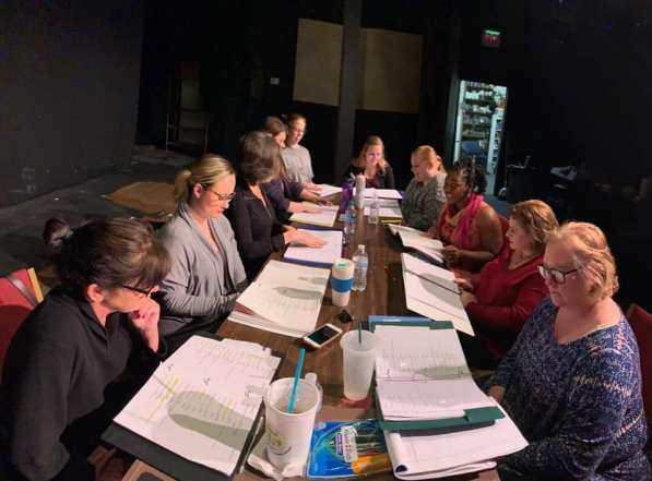 """The first table read of """"Morningside"""" at Terrific New Theatre. (contributed)"""