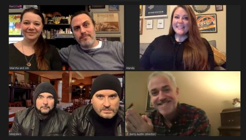 """The cast and director for """"Wanda's Visit"""" meet virtually. (contributed)"""