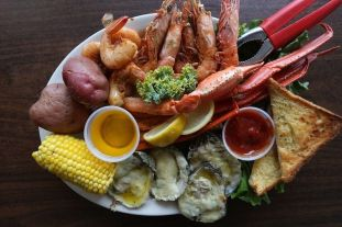 The Steamed Combo at King Neptune's lets you sample a bit of everything. (Brian Kelly)