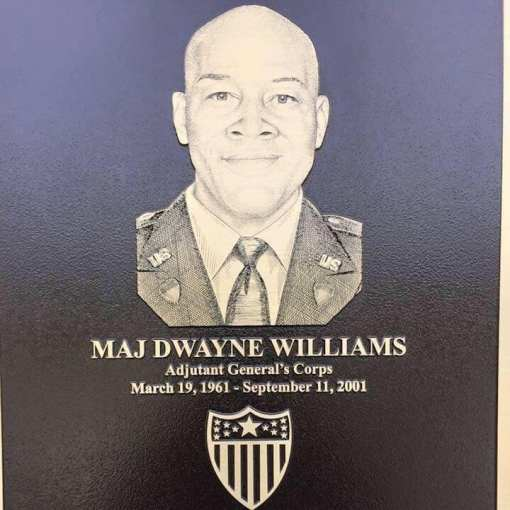 A plaque on a building named in Dwayne Williams' honor at Fort Jackson, South Carolina. (contributed)