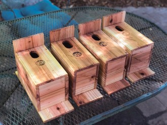 Nick Garrett enjoys building birdhouses. (contributed)