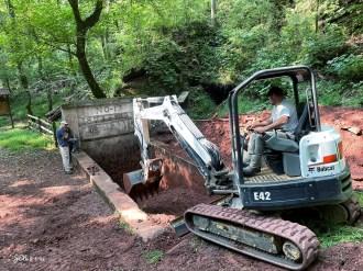 The excavated Ishkooda Mine No. 13 is now an historic exhibit at Red Mountain Park in Birmingham. (Jeff E. Newman / Underground Birmingham)