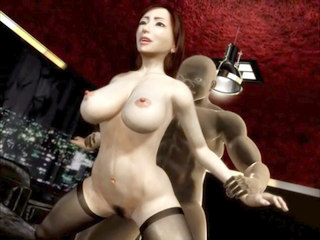 Bushy doll fucked in all poses in 3D