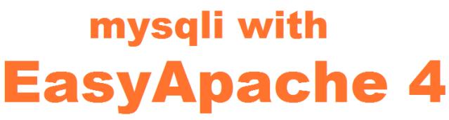 How to enable mysqli using Easyapache 4