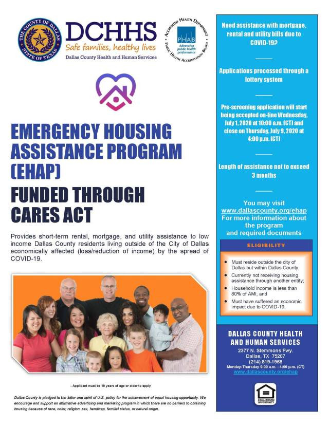 DCHHS Reopens Emergency Housing Assistance Program