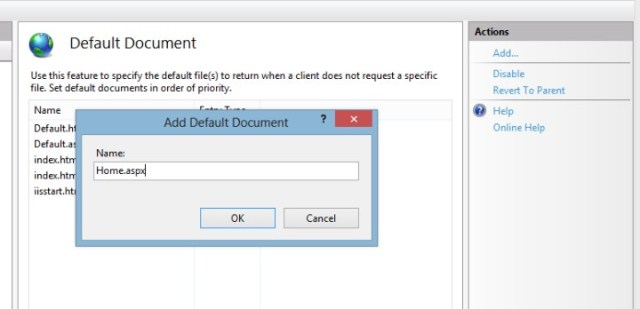 IIS default document 3