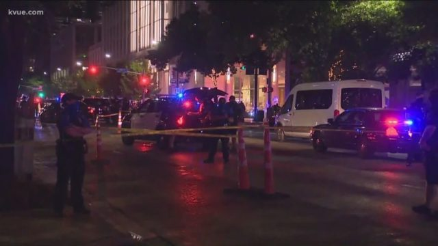 Man shot dead at protest in Texas after car driver opens fire