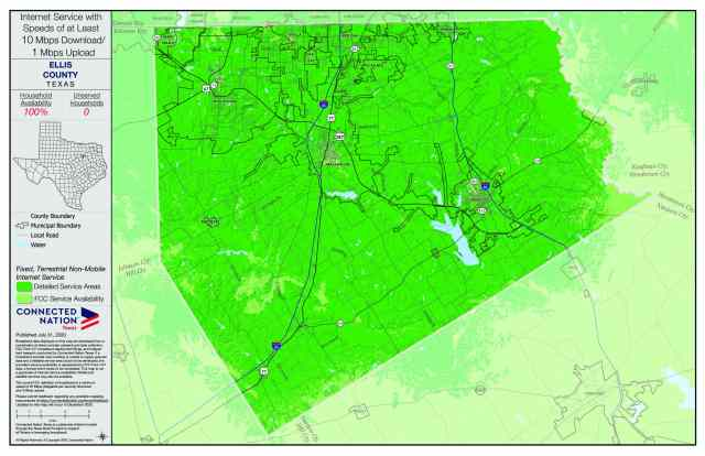 How Connected is Texas? Broadband Coverage Maps Give New Insights