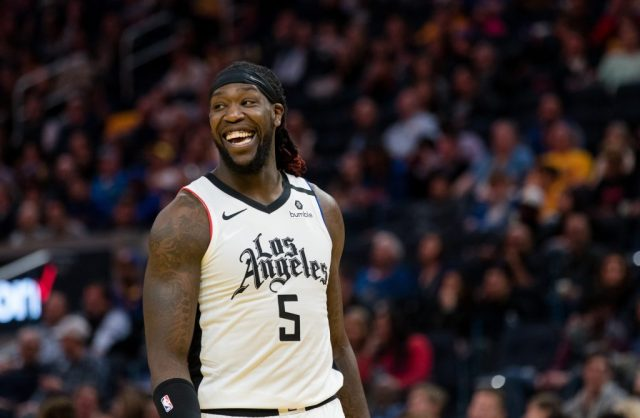 Clippers forward Montrezl Harrell in a game against the Warriors