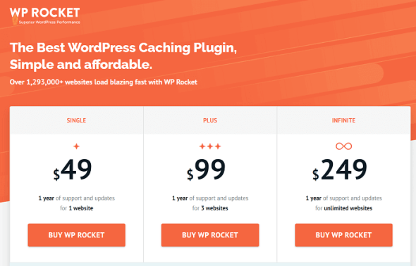 WP Rocket pricing