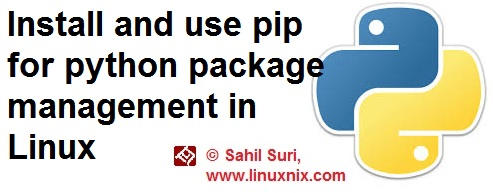 Install and use pip for python package management in Linux