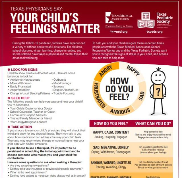 'Your child's feelings matter': New resource aims to help Texas parents identify anxiety, depression in children