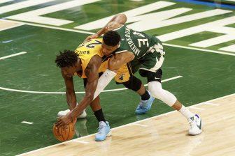 WATCH: Giannis Antetokounmpo guides Milwaukee Bucks to sweep of Miami Heat