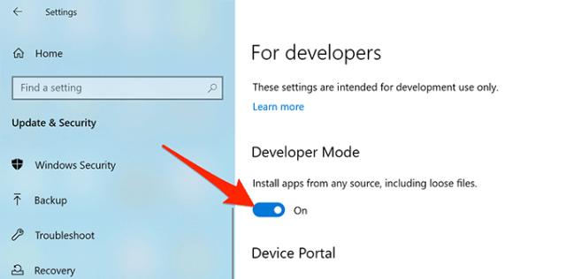 9 enable developer mode