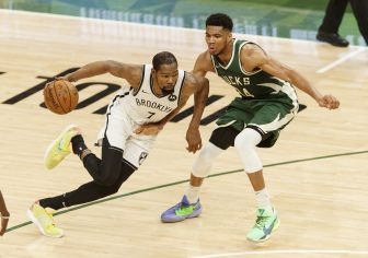 WATCH: Nets top Bucks in Game 1 despite James Harden's early injury