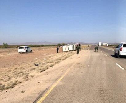 Rollover crash of Border Patrol vehicle shuts down I-10 west near Van Horn