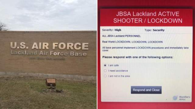 Joint Base San Antonio-Lackland on 'lockdown' after 2 shooters fire at gate