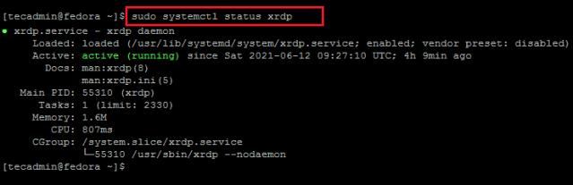 How To Install Remote Desktop (Xrdp) on Fedora