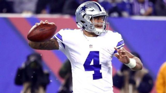 Cowboys' Prescott out of training camp with shoulder strain