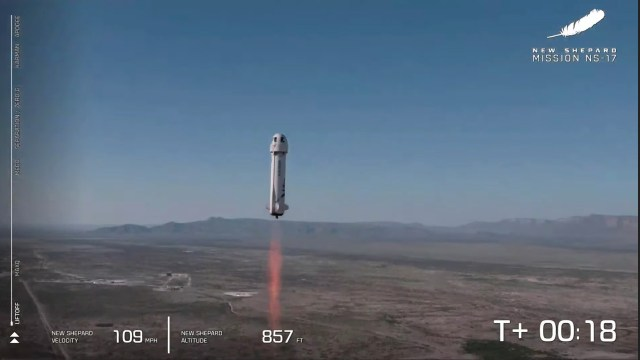 Blue Origin completed its first test flight with no passengers Thursday morning.