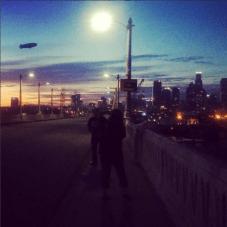 Sixth Street Bridge and blimp