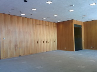 Gorgeous paneling in the Peirera corporate HQ