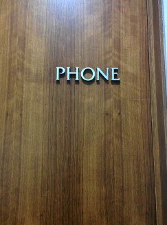 Understated font in the Norman Chandler Pavilion