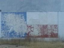 Texas Flag mural in Marathon
