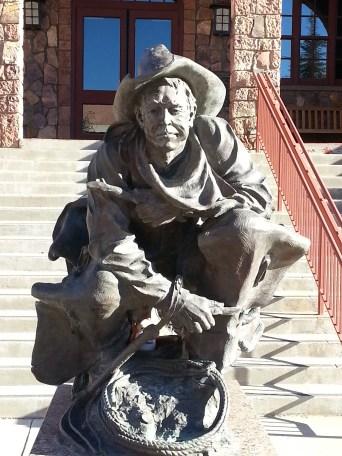 statue at Big Bend Museum in Alpine