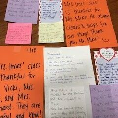 CPS Staff Models Thankfulness with Messages of Gratitude!