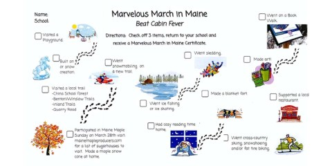Marvelous March in Maine Challenge