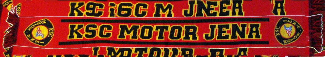 Fan-Schal vom KSC Motor Jena